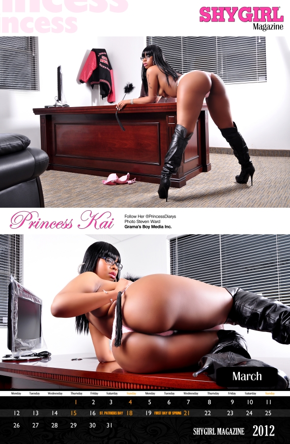 Order Your 2012 ShyGirl Calendar Today Feat. Princess Kai