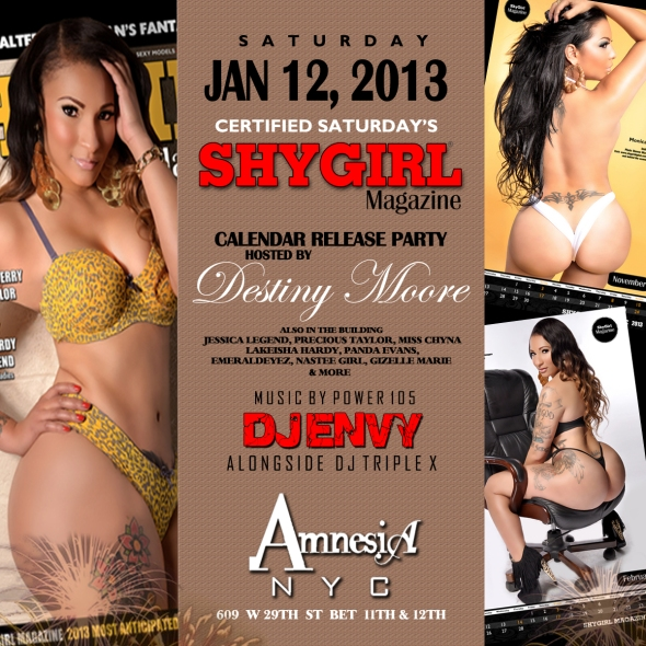 ShyGirl Calendar Release Party (Part 2) This Saturday