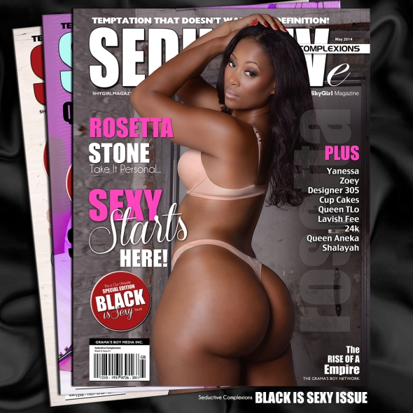 Cover Model Rosetta Stone Featured In The New (Black Is Sexy Edition) of Seductive Complexions